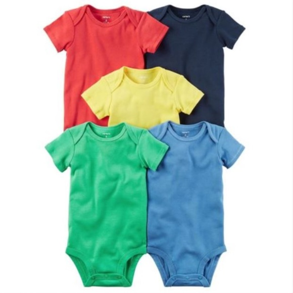 2bd804720 Carter's One Pieces | New Carters Baby Boy 5 Pack Bodysuits Solid 3 ...